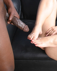 Black Cum On My Feet